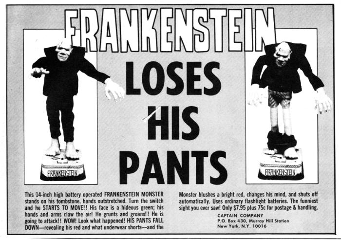 Frankenstein Loses His Pants