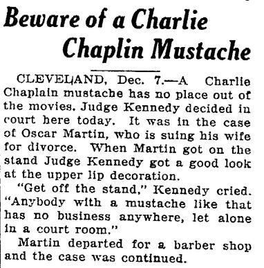 charlie chaplin 1920. Beware of a Charlie Chaplin